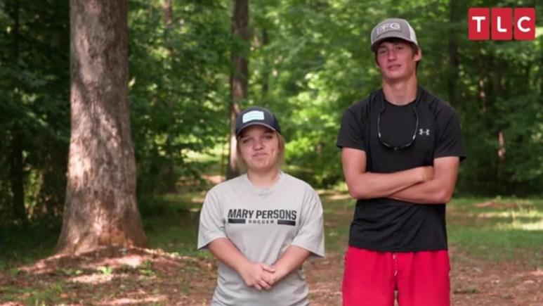 Elizabeth Johnston and her boyfriend Brice.