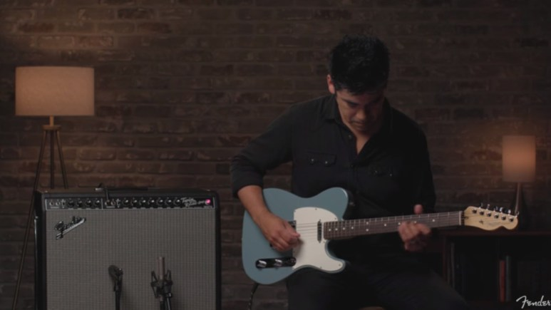 A guy plays a tune on Fender Play