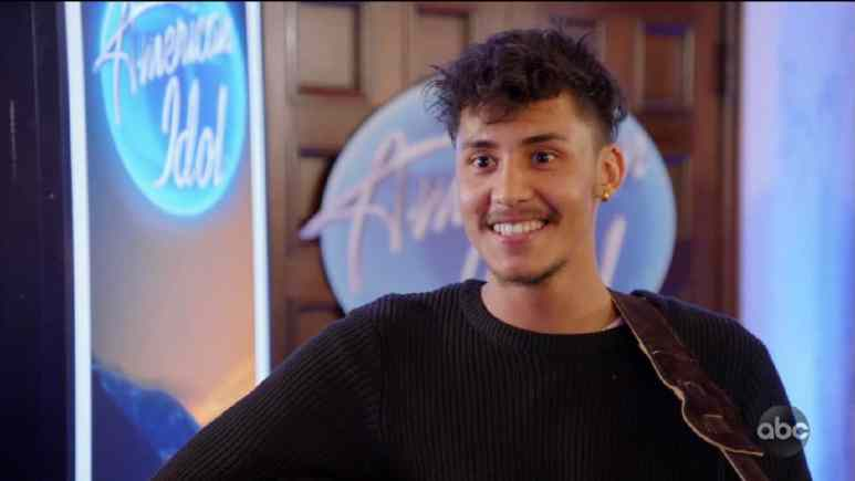 Arthur Gunn is happy after performing for Idol Hollywood Week