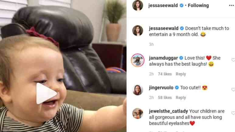 Jessa Duggar's video of Ivy Jane and the comments.