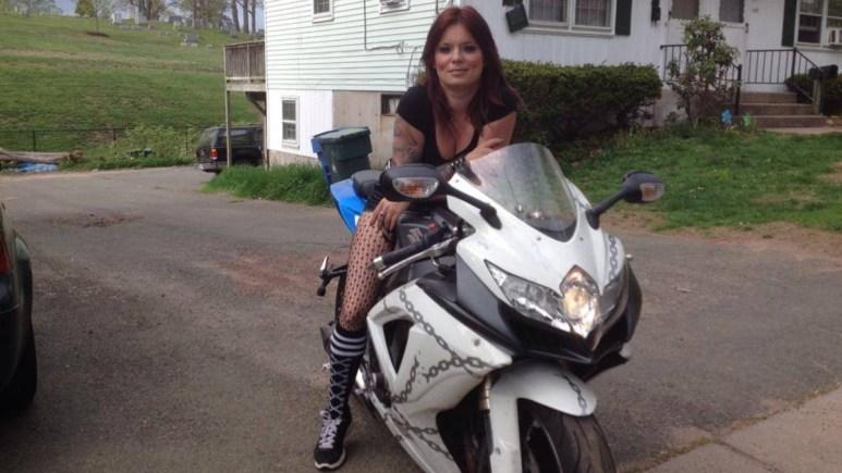 Jo Ringer on a motorbike