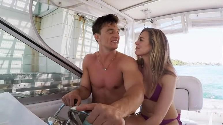 Tyler Cameron on Hannah Brown on The Bachelorette