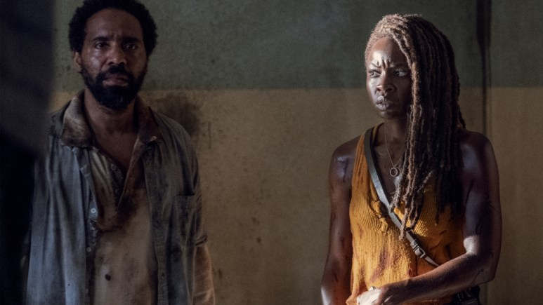 Kevin Carroll as Virgil and Danai Gurira as Michonne