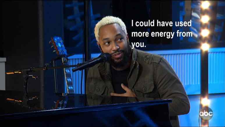 """Piano player Fred says """"I could have used more energy from you"""""""