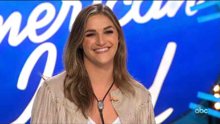 Grace Leer smiles after her Idol audition