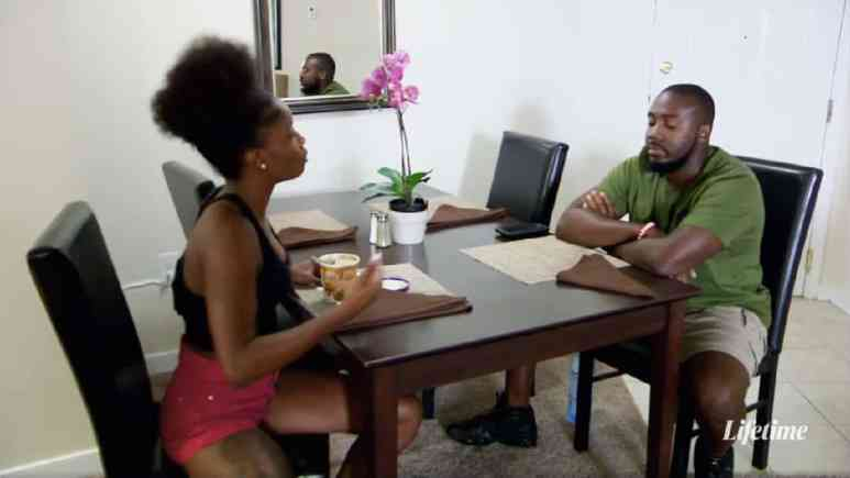 Married at First Sight couple Meka and Michael argue.