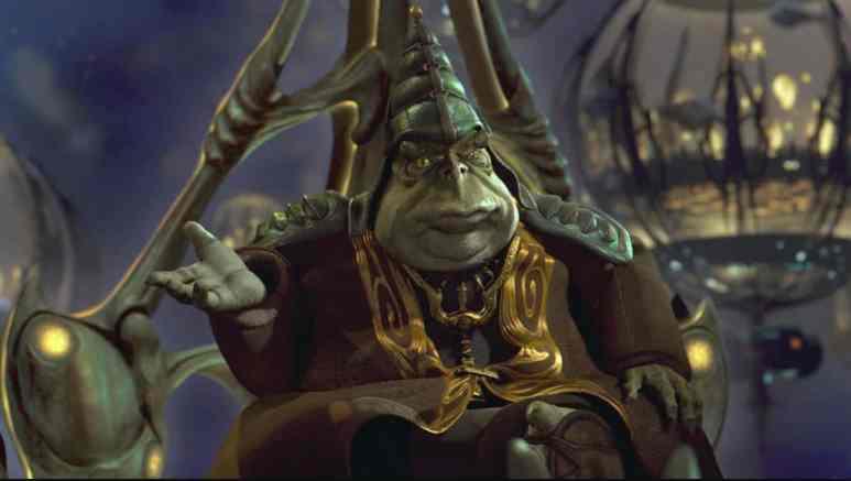 Boss Nass from Star Wars: The Phantom Menace is shown