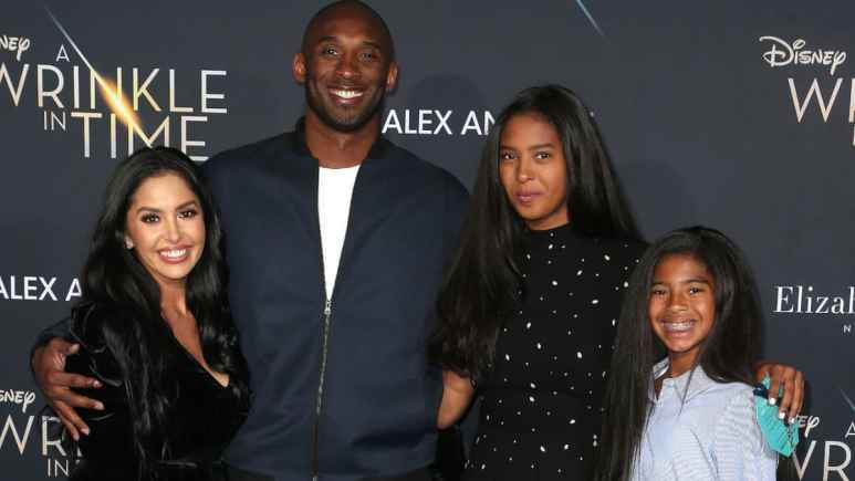 Kobe Bryant with his famil