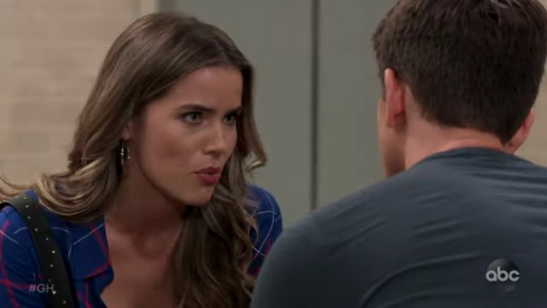 Sofia Mattsson and Chad Duell as Sasha and Michael on General Hospital.