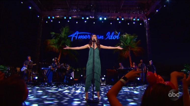 Genevieve Linkowski on Idol singing