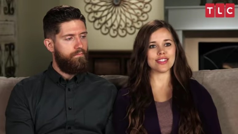 Jessa Duggar and Ben Seewald in a Counting On confessional.