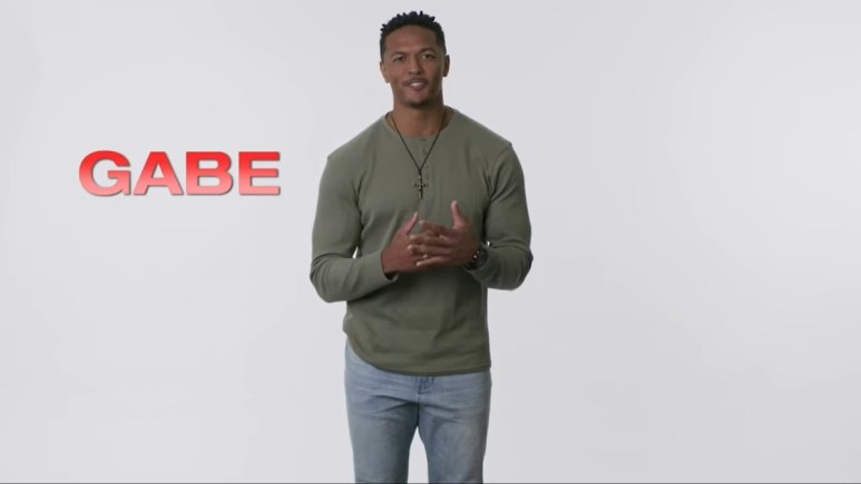 Contestant Gabe is shown on The Bachelor Presents: Listen to Your Heart