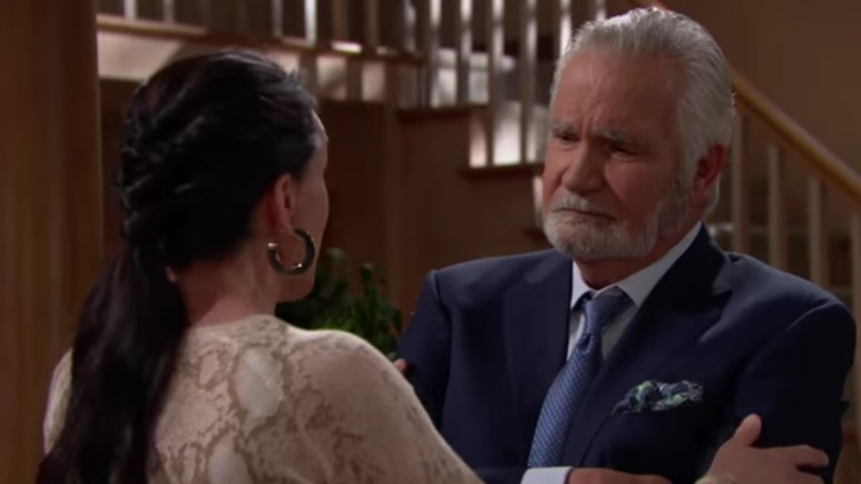 Rena Sofer and John McCook as Quinn and Eric on The Bold and the Beautiful.
