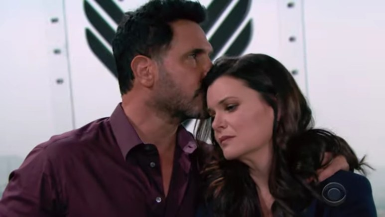 Don Diamont and Heather Tom as Bill and Katie on The Bold and the Beautiful.