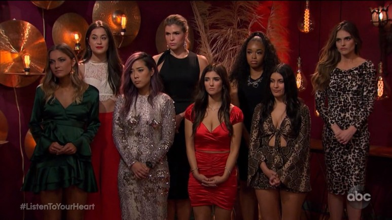 Listen to Your Heart ladies line up in premiere's rose ceremony