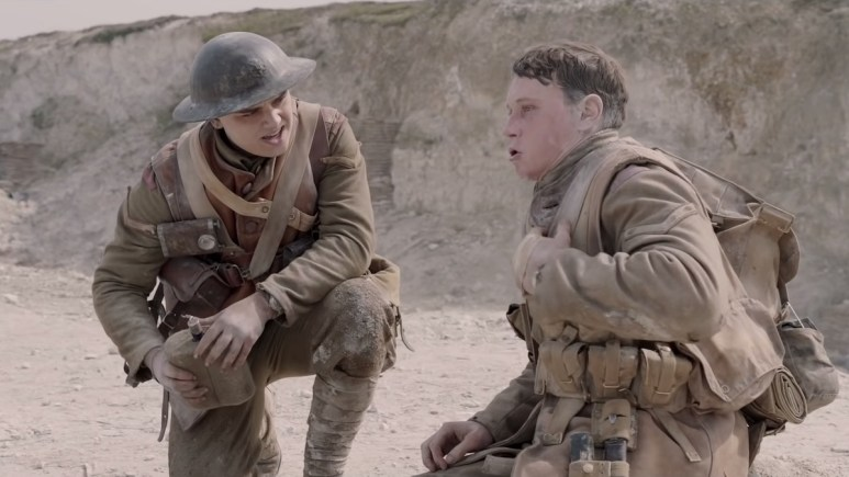 war movie 1917 trailer shot