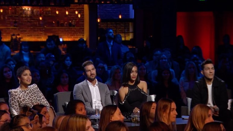 On Season 1, Episode 4 of The Bachelor Presents: Listen to Your Heart, the judges listen to contestants sing