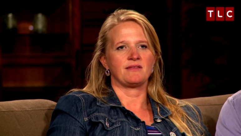 Christine Brown in a Sister Wives confessional.