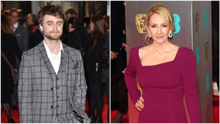 Radcliffe and Rowling on the red carpet