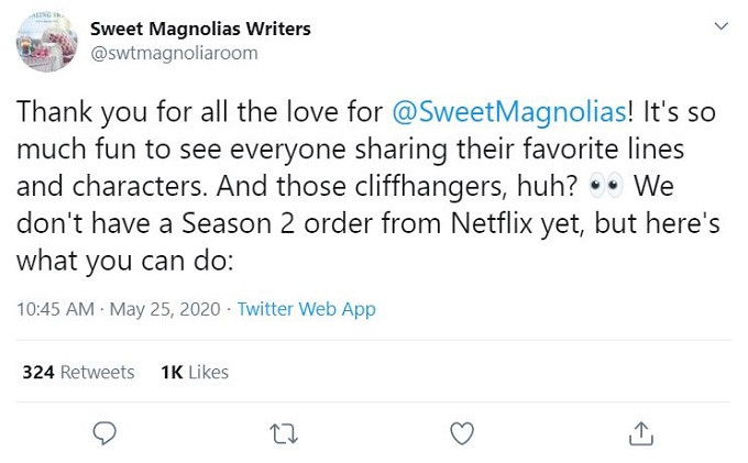 Sweet Magnolias Writers on Twitter