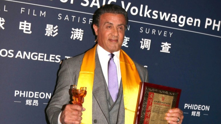 Sylvester Stallone on the red carpet