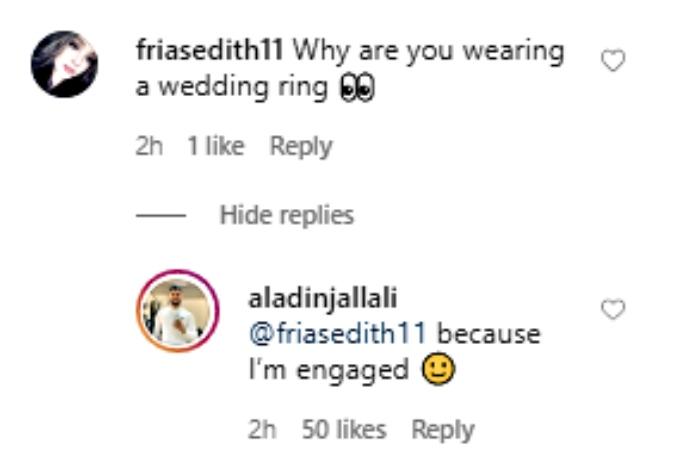 Aladin confirms engagement