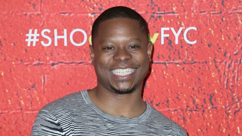 Jason Mitchell on the red carpet