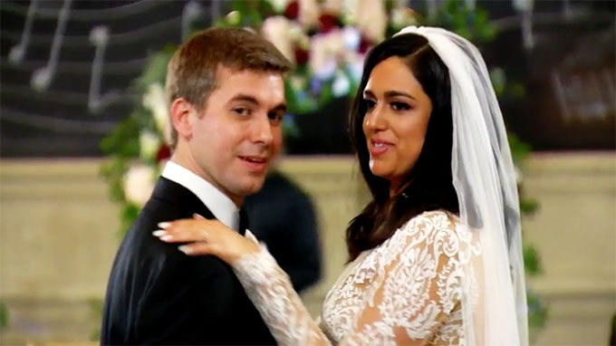 MAFS couple Christina and Henry dancing awkward at their wedding