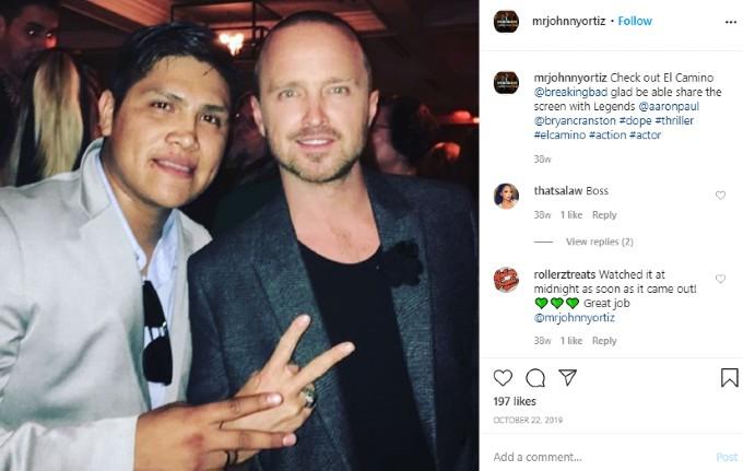 Johnny Ortiz's Instagram post