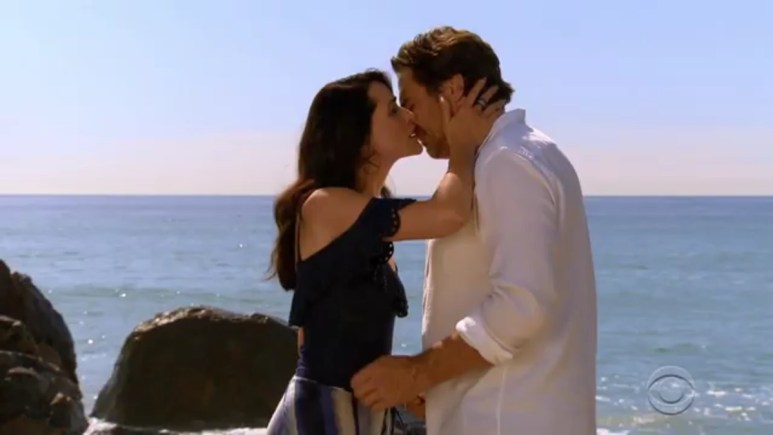 Thorsten Kaye and Rena Sofer as Ridge and Quinn on The Bold and the Beautiful.