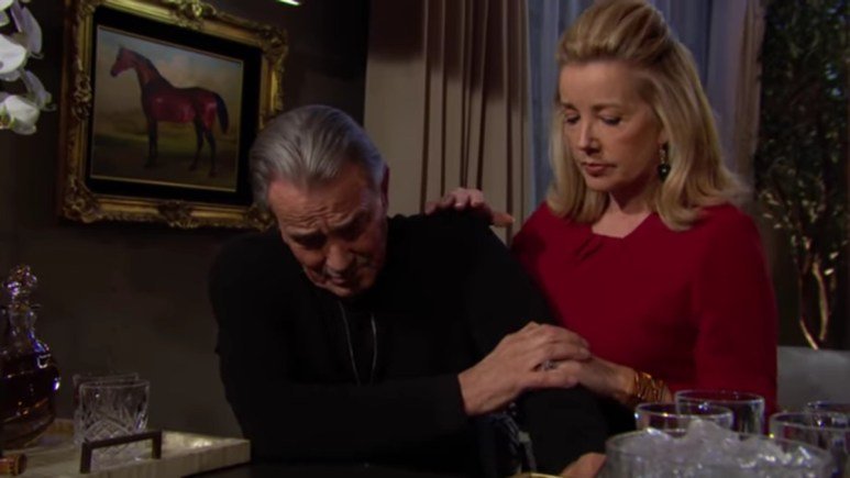 Eric Braeden and Melody Thomas Scott as Victor and Nikki on The Young and the Restless.