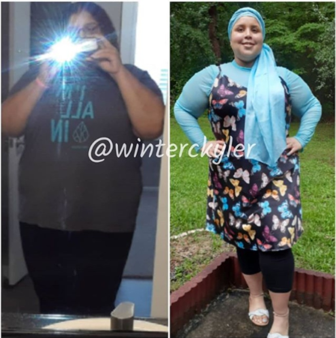 Winter shows off 50 pounds weight loss