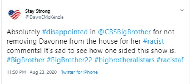 BB22 Fan Against DaVonne