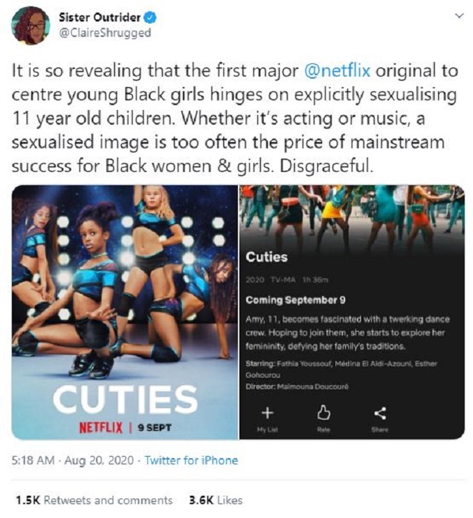 Cuties backlash on Twitter