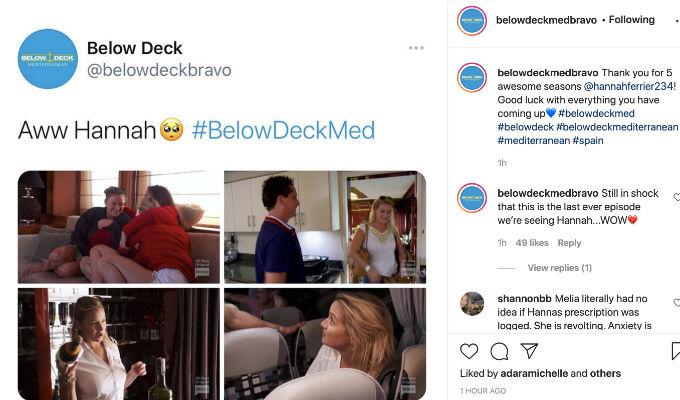 Hannah says goodbye to Below Deck Med.