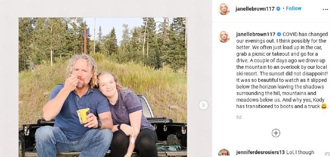 Janelle Brown's IG post.