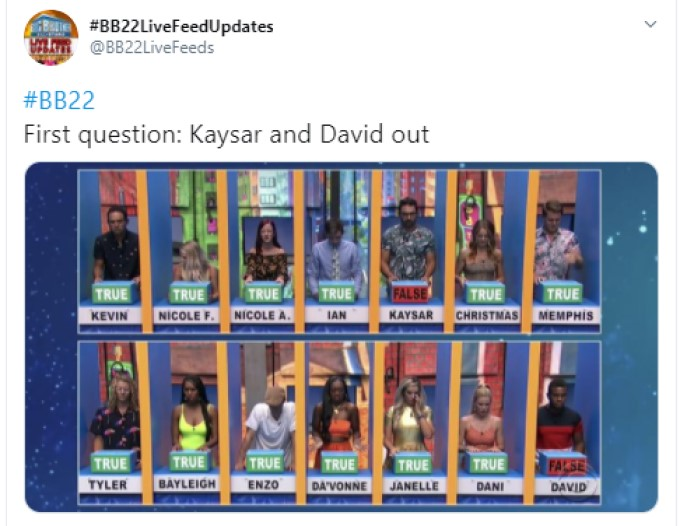 New BB22 HOH