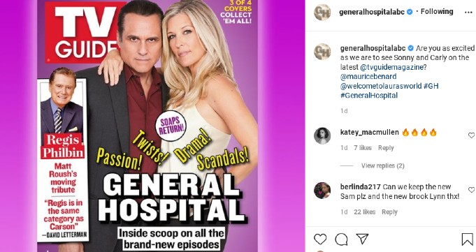 Laura Wright and Maurice Benard on the cover of TV Guide.