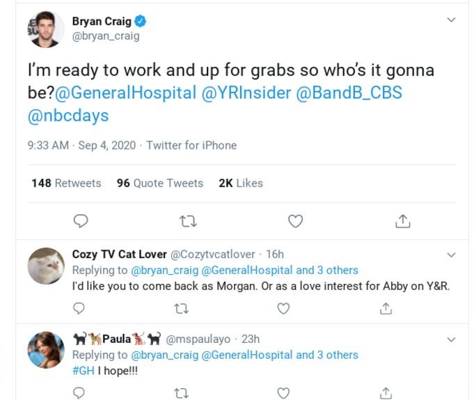 Bryan Craig's tweet