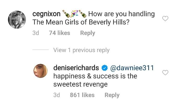 Denise Richards' revenge comment.