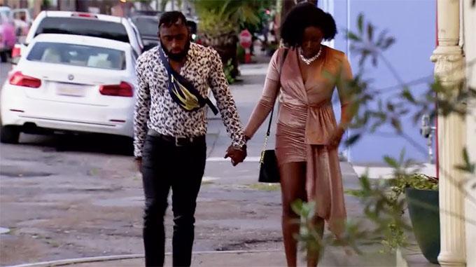 MAFS Season 11 couple Amani and Woody dressed up walking