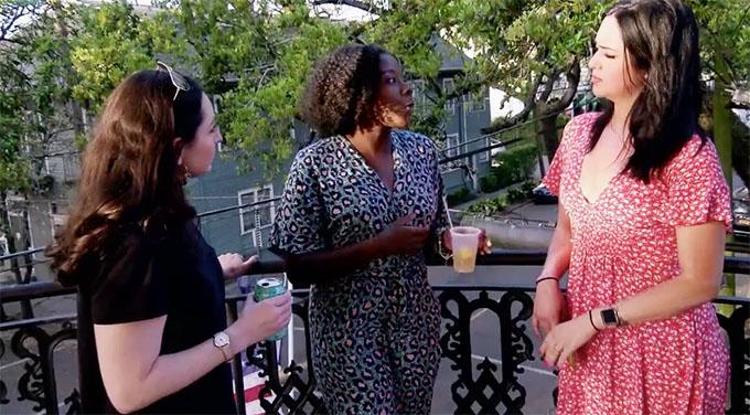 MAFS Season 11 ladies Amani, Christina, and Olivia talking.