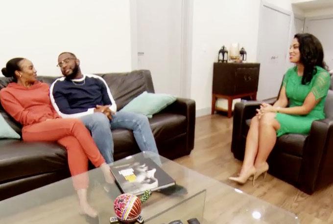 MAFS Season 11 couple Miles and Karen talking to Dr. Viviana about sex