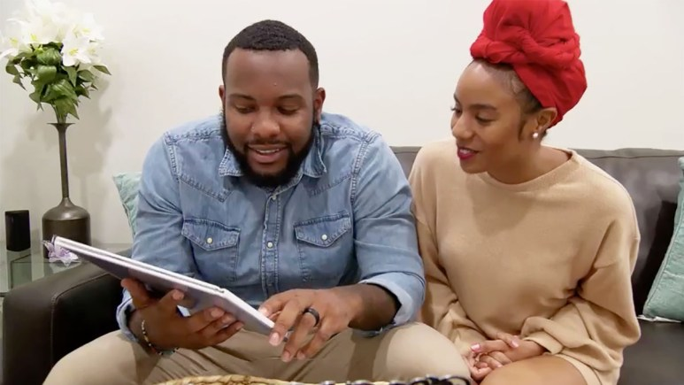 Married at First Sight Season 11 couples Karen and Miles celebrate their one-month anniversary looking through wedding album.