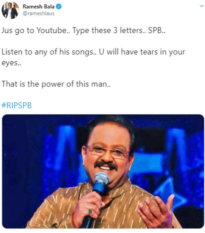 Tribute to SPB