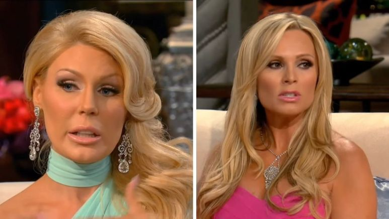 Tamra accuses Gretchen Rossi of cheating on dying fiance