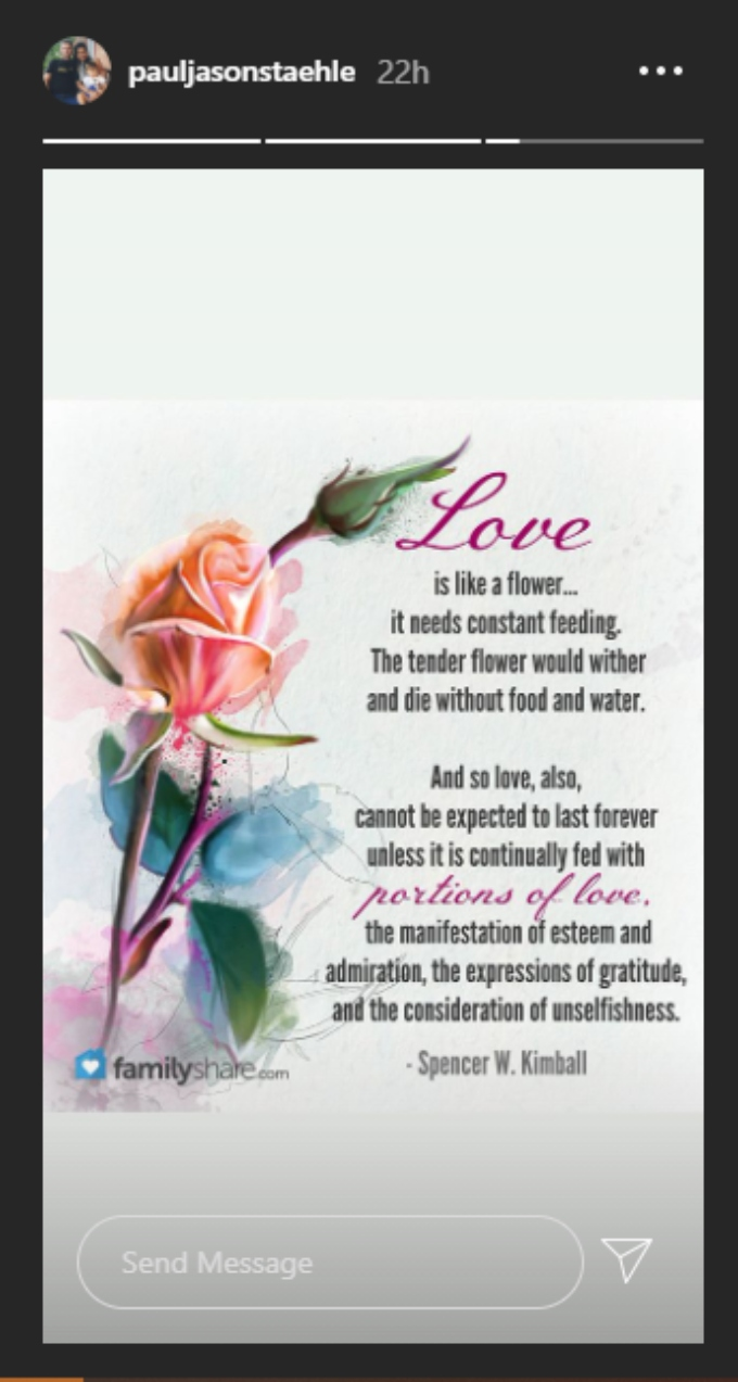 Paul Staehle posts a quote about love