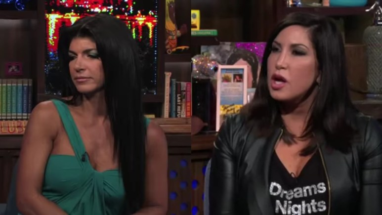 Teresa and Jacqueline on WWHL.