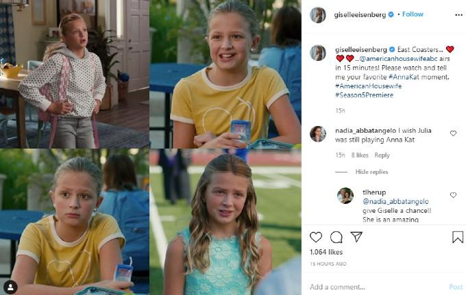 Giselle Eisenberg's Instagram