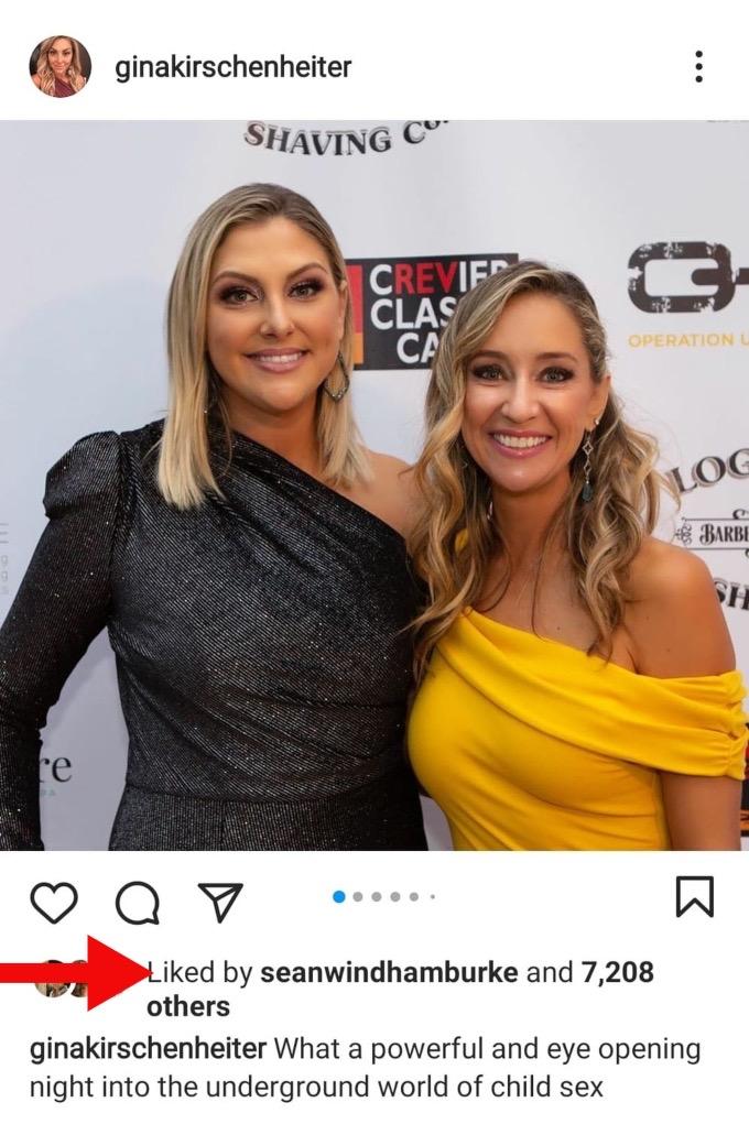 Sean Burke likes Gina Kirschenheiter's Instagram post